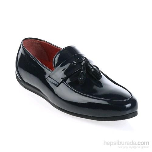 Derigo Erkek Klasik Ayakkabı Lacivert Rugan