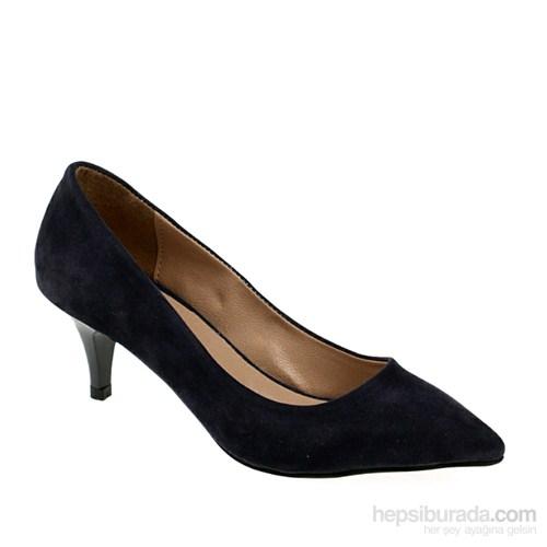 Derigo Kadın Topuklu Ayakkabı Lacivert Süet