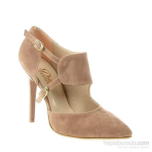 Derigo Kadın Topuklu Ayakkabı Somon Süet