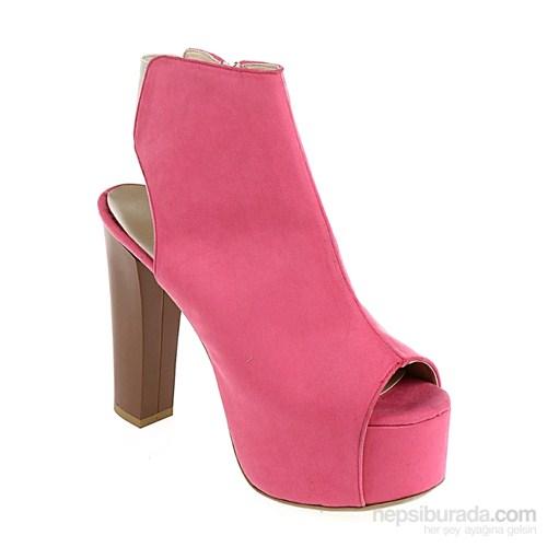 Derigo Kadın Topuklu Ayakkabı Pembe Süet