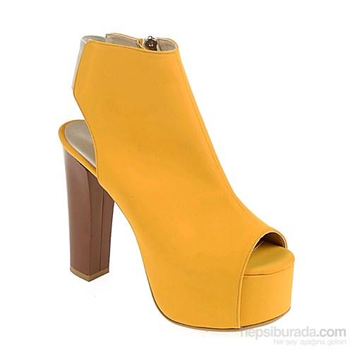 Derigo Kadın Topuklu Ayakkabı Hardal