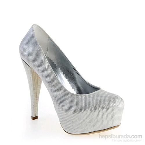 Derigo Kadın Topuklu Ayakkabı Sedef Sim