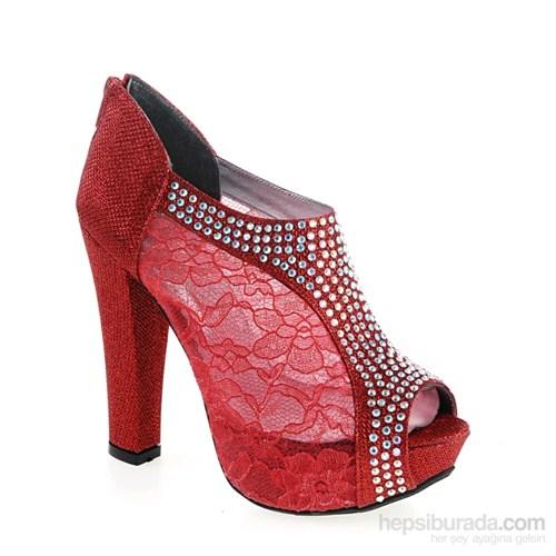 Derigo Kadın Topuklu Ayakkabı Kırmızı