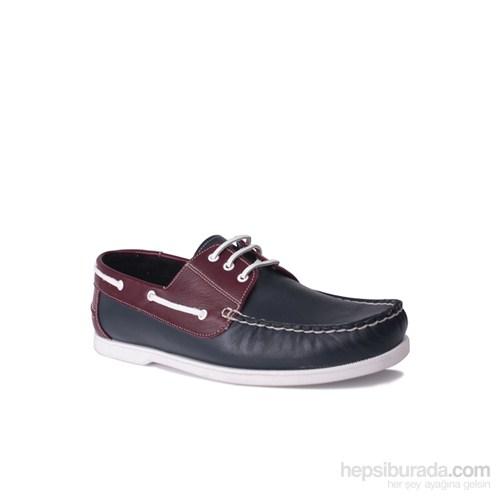 Kalahari Erkek Klasik Ayakkabı Lacivert Bordo