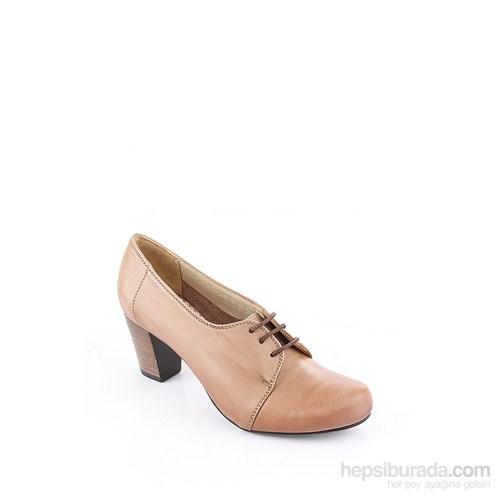 Gön 22287 Vizon Antik Deri Kadın Ayakkabı