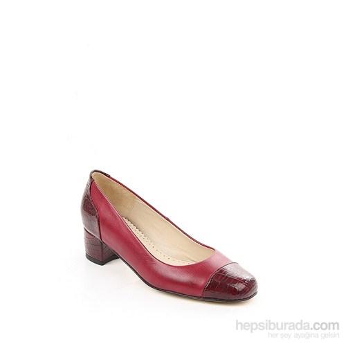 Gön Bordo Krakoya Bordo Deri Kadın Ayakkabı 22375