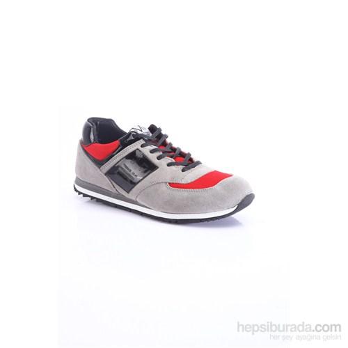Versace 19.69 Abbigliamento Sportivo SRL Erkek Günlük Ayakkabı Gri Kırmızı