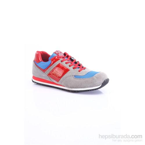 Versace 19.69 Abbigliamento Sportivo SRL Erkek Günlük Ayakkabı Gri Saks Kırmızı