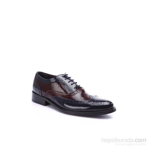 Versace 19.69 Abbigliamento Sportivo SRL Erkek Klasik Ayakkabı Lacivert Bordo