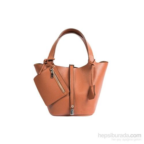 İroni So Kelly Model Kilitli Ekstra Cüzdanlı Taba Çanta