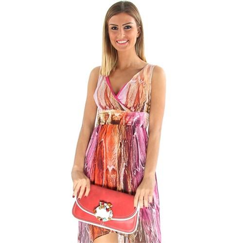Jacqulıne 1111-15 Kırmızı Çapraz Bayan Çanta