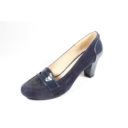 Capriss St11-11-463 Lacivert Süet Topuklu Ayakkabı