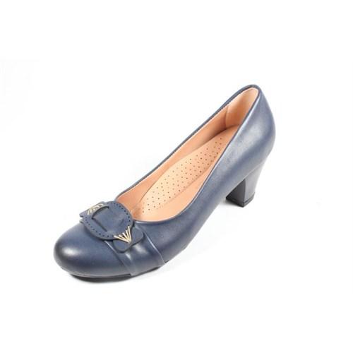 Capriss St11-11-483 Lacivert Topuklu Ayakkabı