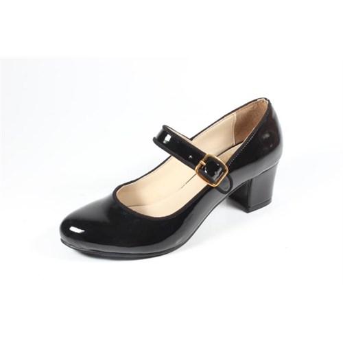 Ella 255-29 Siyah Kadın Topuklu Ayakkabı