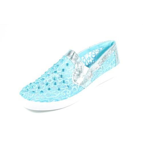 Pink Clover 224-1189 Mavi Kadın Babet