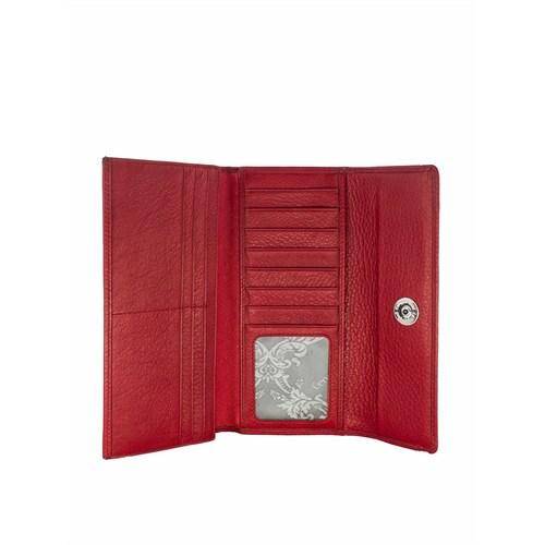 Cengiz Pakel Bayan Cüzdan Kırmızı 65132