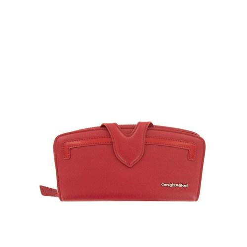 Cengiz Pakel Bayan Cüzdan Kırmızı 65177