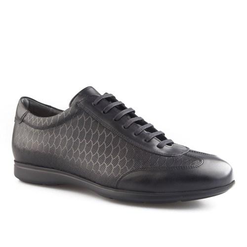 Cabani Petek Baskı Günlük Erkek Ayakkabı Siyah Soft Deri