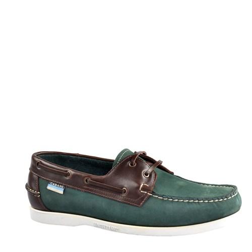 Cabani Marin Tekne Günlük Erkek Ayakkabı Yeşil Nubuk
