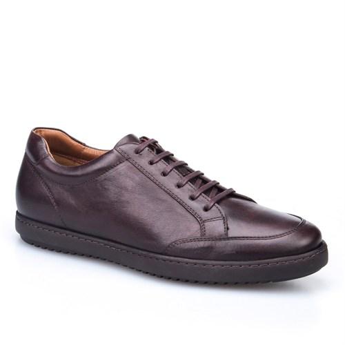 Cabani Bağcıklı Günlük Erkek Ayakkabı Taba Deri