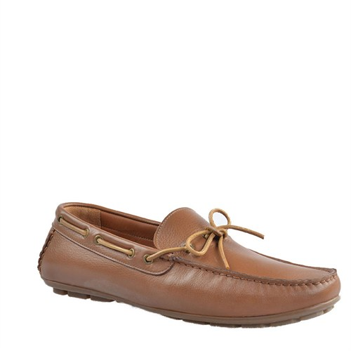 Cabani Makosen Günlük Erkek Ayakkabı Taba Kırma Deri