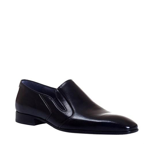 Cabani Bağcıksız Klasik Erkek Ayakkabı Siyah Malak Deri
