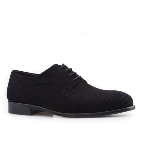 Cabani Nakışlı Klasik Erkek Ayakkabı Siyah Süet