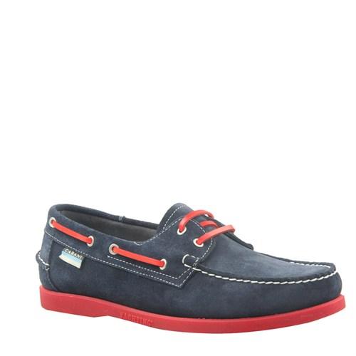 Cabani Marin Tekne Günlük Erkek Ayakkabı Lacivert Süet