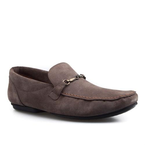 Cabani Tokalı Günlük Erkek Ayakkabı Vizon Antilop Deri
