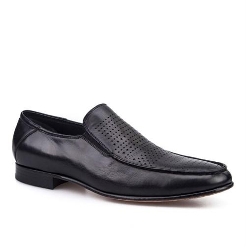 Cabani Lazerli Klasik Erkek Ayakkabı Siyah Deri