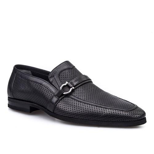 Cabani Tokalı Klasik Erkek Ayakkabı Siyah Deri