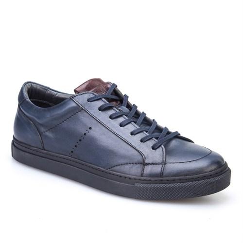 Cabani Bağcıklı Spor Erkek Ayakkabı Lacivert Deri