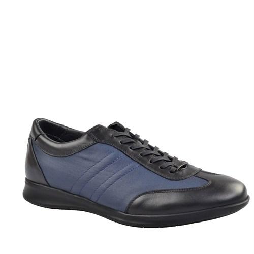 Cabani Bağcıklı Günlük Erkek Ayakkabı Siyah Keten
