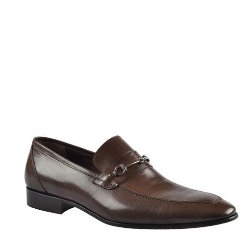 Cabani Tokalı Klasik Erkek Ayakkabı Kahve Buffalo Deri