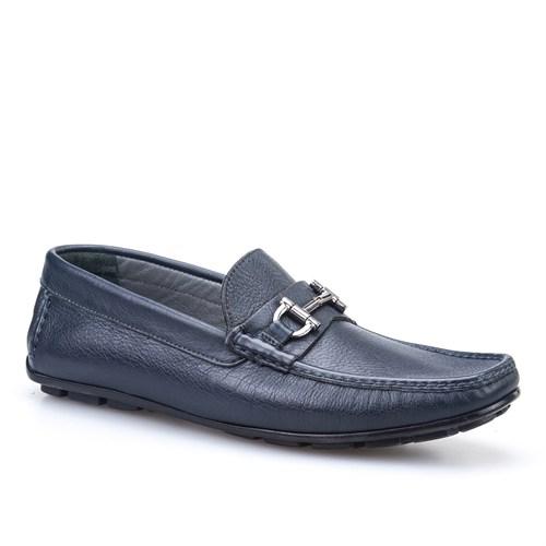 Cabani Makosen Günlük Erkek Ayakkabı Lacivert Deri