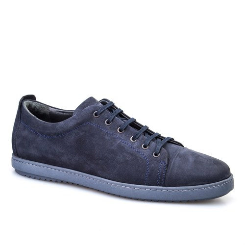 Cabani Bağcıklı Günlük Erkek Ayakkabı Lacivert Nubuk