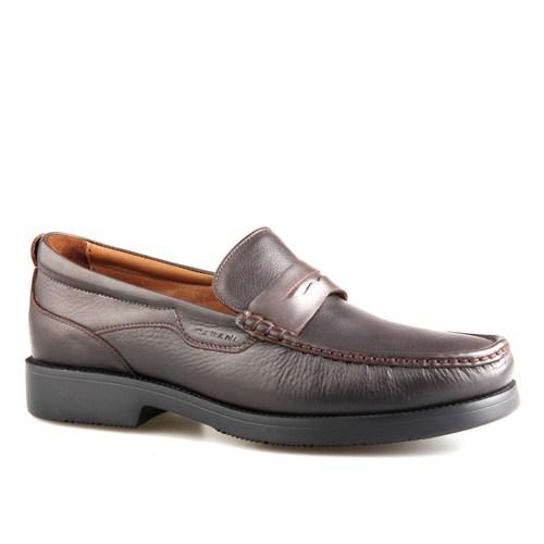 Cabani Kemerli Günlük Erkek Ayakkabı Kahve Kırma Deri