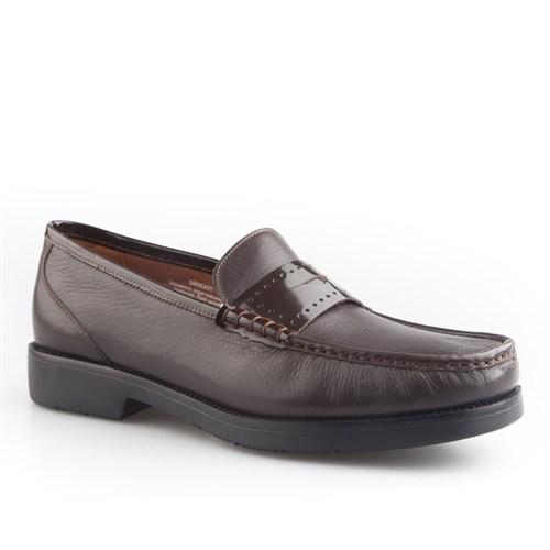Cabani Bağcıksız Günlük Erkek Ayakkabı Kahve Kırma Deri