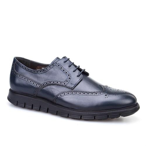 Cabani Extralight Oxford Günlük Erkek Ayakkabı Lacivert Deri