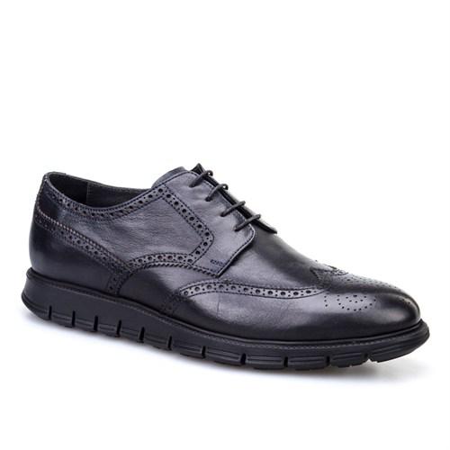 Cabani Extralight Oxford Günlük Erkek Ayakkabı Siyah Deri