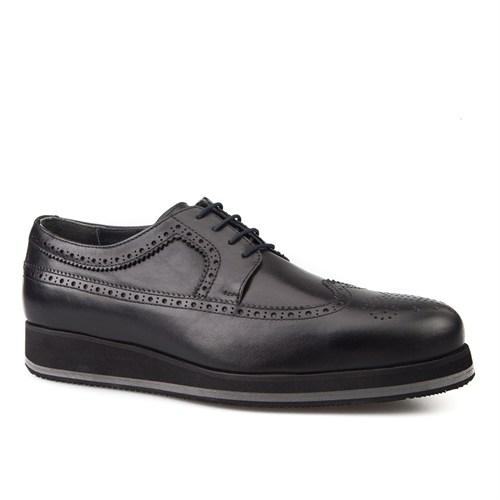 Cabani Oxford Günlük Erkek Ayakkabı Siyah Analin Deri