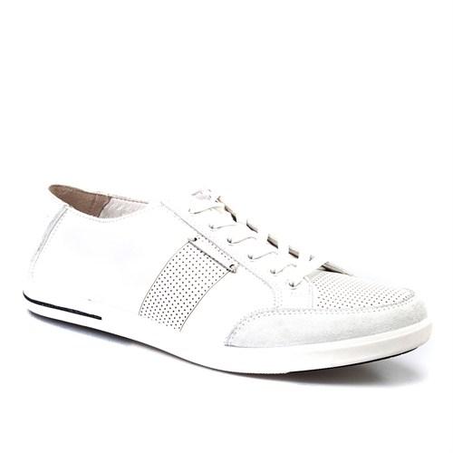 Cabani Bağcıklı Günlük Erkek Ayakkabı Beyaz Deri
