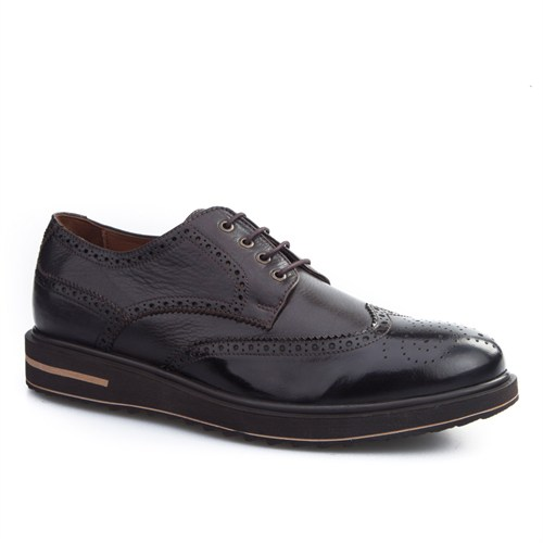 Cabani Oxford Günlük Erkek Ayakkabı Kahve Açma Deri