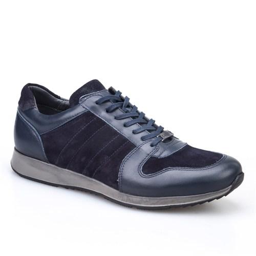 Cabani Bağcıklı Spor Günlük Erkek Ayakkabı Lacivert Süet