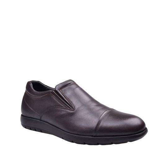 Cabani Lastikli Günlük Erkek Ayakkabı Kahve Deri