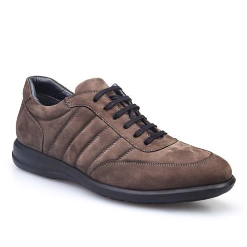 Cabani Bağcıklı Günlük Erkek Ayakkabı Vizon Nubuk