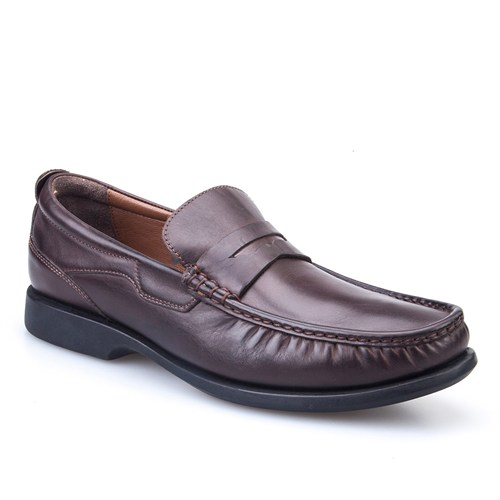 Cabani Kemerli Günlük Erkek Ayakkabı Kahve Deri