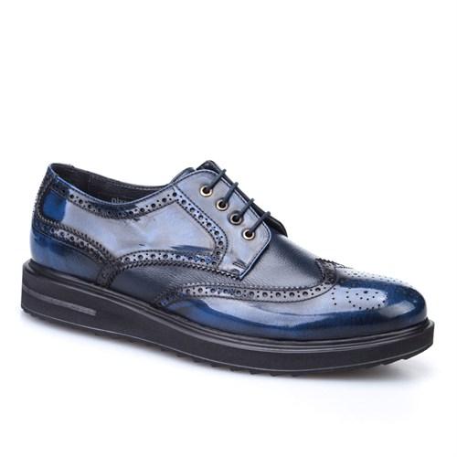 Cabani Oxford Günlük Erkek Ayakkabı Lacivert Kırma