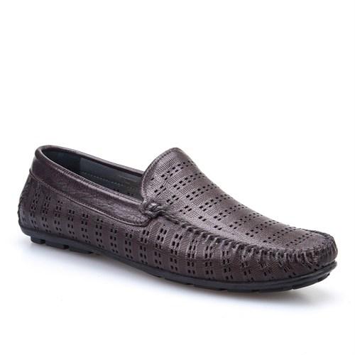 Cabani Makosen Hakiki Deri Erkek Ayakkabı Kahve Deri