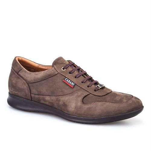 Cabani Bağcıklı Günlük Erkek Ayakkabı Kahve Nubuk
